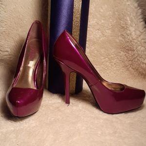 Perfect Purple Pump Heel